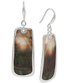Shell Geometric Drop Earrings