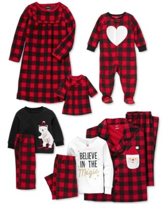 Little & Big Girls 2-Pc. Buffalo Check & Matching Doll Nightgown