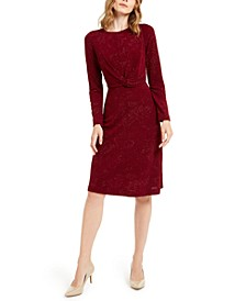 Tonal Twist-Waist Dress, Created For Macy's