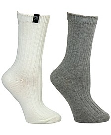 Women's 2 Pack Ribbed Boot Sock, Online Only