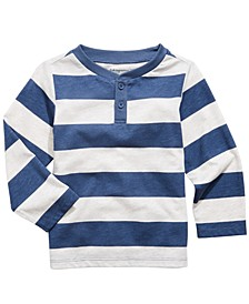 Toddler Boys Striped Henley T-Shirt, Created For Macy's