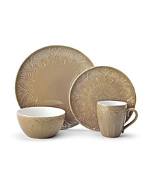 CLOSEOUT! Dolce Tan 4 pc Place Setting, Service for 1