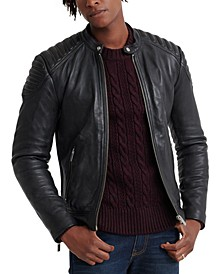 Men's City Hero Leather Racer Jacket
