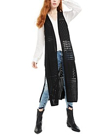 Juniors' Crocheted Tunic Vest