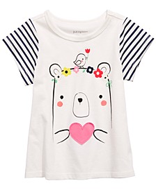 Baby Girls Bear-Print Cotton T-Shirt, Created for Macy's