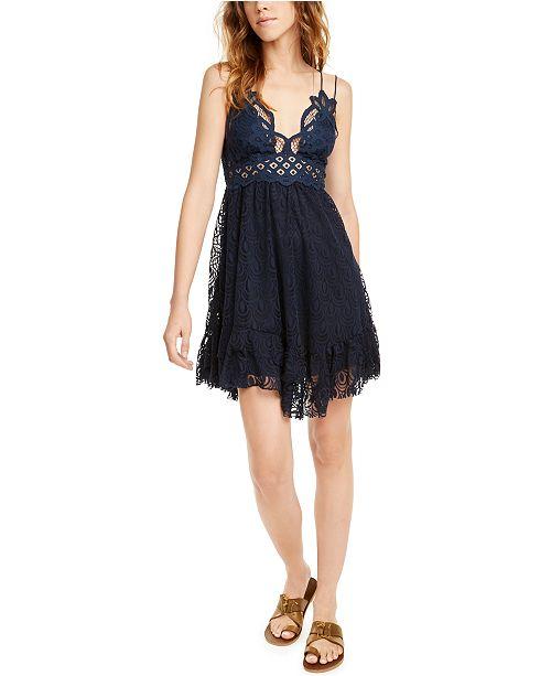 Free People Adella Burnout Velvet Mini Dress