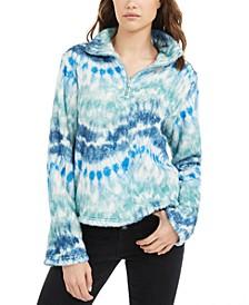 Juniors' Tie-Dye Sherpa Pullover