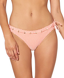 Jessica Simpson Twiggy Stripe Textured Hipster Bottoms