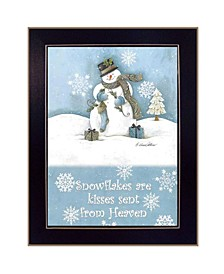 "Trendy Decor 4U Trendy Snowman By Diane Arthur, Printed Wall Art, Ready to hang, Black Frame, 10"" x 14"""