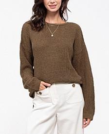Crisscross Knit Sweater