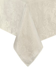 "Elrene Poinsettia Jacquard Holiday Tablecloth - 52"""