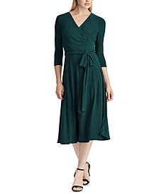 Petite Jersey Surplice Dress