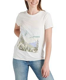 Cotton Winter-Scenic-Graphic T-Shirt