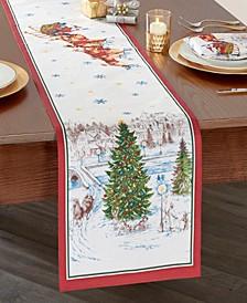 Santa's Snowy Sleighride Table Runner