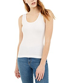 Juniors' Ribbed Knit Tank Top