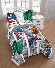 Marvel Comic Twin 6-Pc. Comforter Set