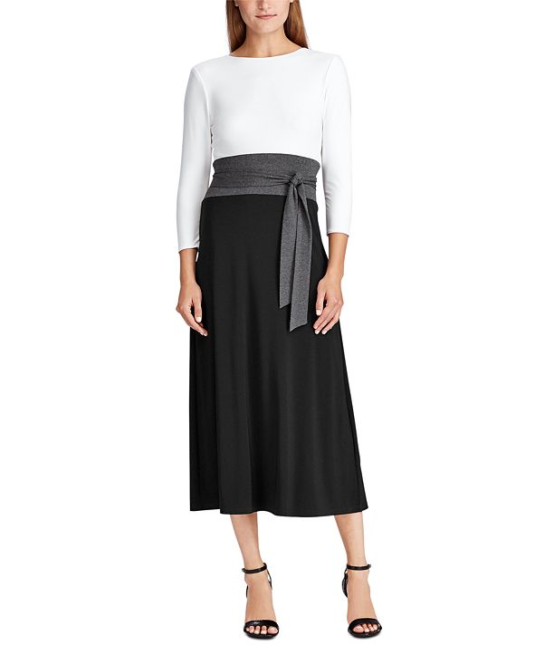 Lauren Ralph Lauren Paneled Jersey Dress