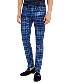 I.N.C. Men's Skinny-Fit Stretch Plaid Jeans, Created For Macy's