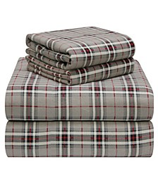 Plaid Flannel Twin Sheet Set