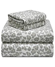 Printed Flannel Full Sheet Set