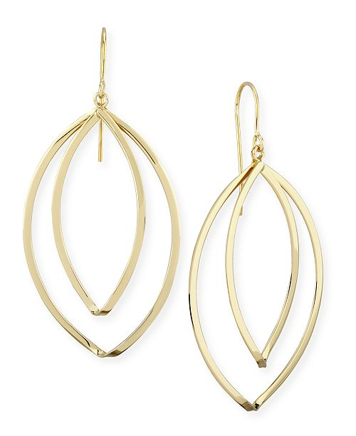 Macy's Marquise Twist Drop Earrings Set in 14k Gold