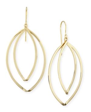 Marquise Twist Drop Earrings Set in 14k Gold