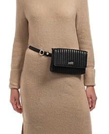 Vertical Stitch Convertible Belt Bag