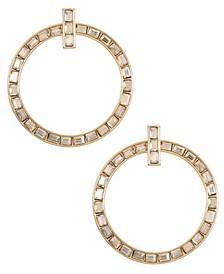 Gold-Tone Hoop Drop Earrings