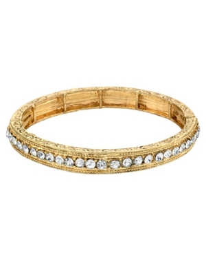 Round Crystals Stretch Bracelet