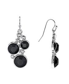 Chrystal Chanel Cluster Drop Earrings