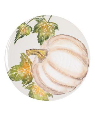 Pumpkins Round Platter w/ Pumpkin
