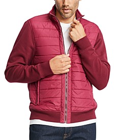 Men's Big & Tall David Mix-Media Full-Zip Jacket