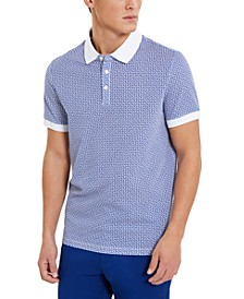 Men's Geometric Print Polo Shirt
