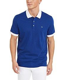 Men's Dot-Print Polo Shirt