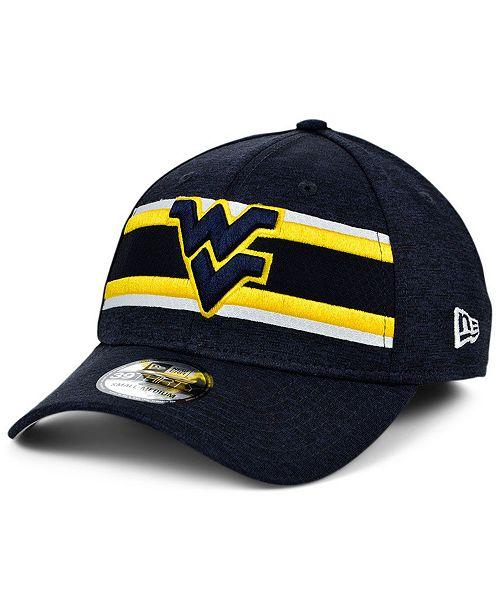 New Era West Virginia Mountaineers Team Color Stripe 39THIRTY Cap