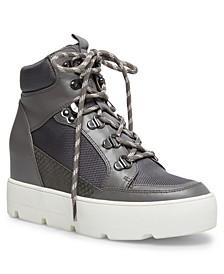 Negan Lace-Up Hiker Wedge Sneakers