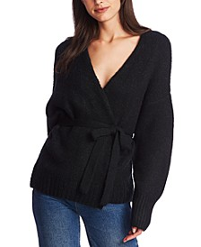 Belted Long-Sleeve Cardigan Sweater