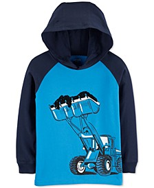 Little & Big Boys Hooded Construction-Print Cotton T-Shirt