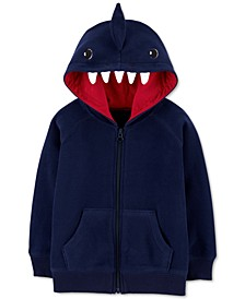 Toddler Boys Zip-Up Fleece Shark Hoodie