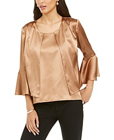 Satin Bell-Sleeve Jacket & Top, Created For Macy's