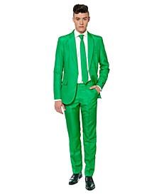 Men's Solid Green Color Suit