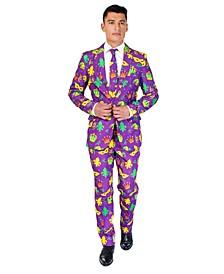 Men's Mardi Gras Purple Icons Mardi Gras Suit