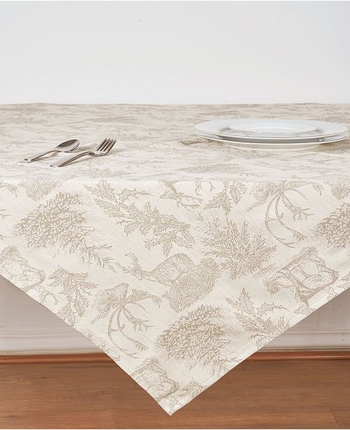 C&F Home C F Home Jacquard Stag Clay Tabletopper
