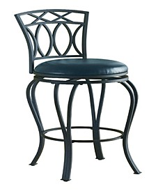 "Coronado 29"" Elegant Metal Bar Stool with Seat"
