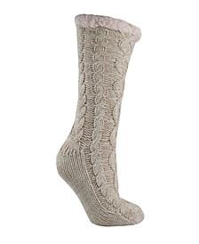 Women's Shea Butter and Rose Oil Infused Book Lovers Slipper Socks