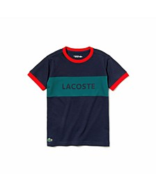 Little and Big Boys Sport Logo Color Block T-Shirt