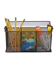 Metal Mesh Multi-Purpose Storage Basket Organizer with Handle, Utensil Holder