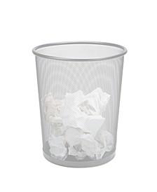 Garbage Waste Basket Recycling Bin, Round Metal Mesh Trash Can