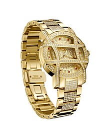 Women's Olympia Platinum Series Diamond (2 1/2 ct. t.w.) 18K Gold-Plated Stainless Steel Watch, 38Mm