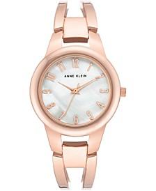 Women's Rose Gold-Tone Bangle Bracelet Watch 33mm
